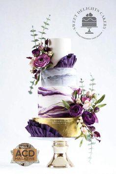 Indescribable Your Wedding Cakes Ideas. Exhilarating Your Wedding Cakes Ideas. Purple Cakes, Purple Wedding Cakes, Cool Wedding Cakes, Beautiful Wedding Cakes, Wedding Cake Designs, Wedding Flowers, Floral Wedding, Cupcake Torte, Cupcakes