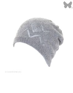 Johnstons Ladies' 100% Cashmere Beanie / Gauzy – Light Grey HAY01119HA020042 - Hoods & Hats - Ladies | Country Attire