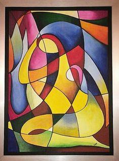 Afrique Art, Cubist Art, Geometric Art, Geometric Painting, Modern Art Paintings, Naive Art, Abstract Canvas, Pop Art, Art Projects