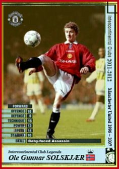 Intercontinental Club Legends card - Ole Gunnar Solskjaer.