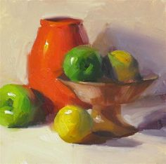 """Daily Paintworks - """"Green Go Red Stop"""" - Original Fine Art for Sale - © Qiang Huang"""