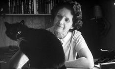 Biologist and author Rachel Carson at home with pet cat Moppet on 24 September 1962. Photograph: Alfred Eisenstaedt