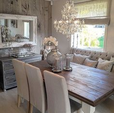 nice Salle à manger - nice Rustic glam dining space... by www.cool-homedeco......