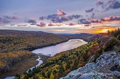 The colors of fall at Lake of the Clouds in the Porcupine Mountains.