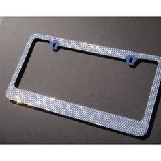 "/""Hello-Kitty-Bow/"" License Plate Frame Custom Made of Chrome Plated Metal"