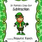 Three St. Patrick's Day themed pages of cross-out subtraction 0-10. A small gift for stopping by and checking out our sale items Thursday, February...