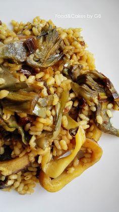 FOOD & CAKES: Arroz con calamares y alcachofas.