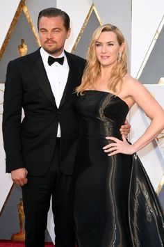 Leonardo DiCaprio and Kate Winslet at event of The Oscars (2016)