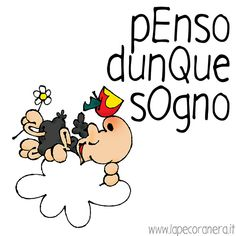 penso dunque sogno Serendipity, Peanuts, Funny, Mindfulness, Fictional Characters, Smile, Disney, Psicologia, Ha Ha