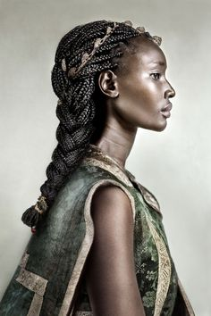 """Diaspora is an ongoing portrait series by Dagmar van Weeghel that features immigrants throughout history and present day. """"These portraits are an homage to their collective experience-past an… Pretty People, Beautiful People, Foto Art, People Of The World, African Beauty, Beautiful Black Women, Black Girl Magic, Dark Skin, Character Inspiration"""