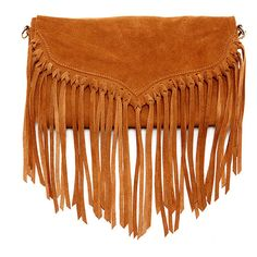 Susu 'lillian' Suede Fringe Crossbody (378660402) (180 CAD) ❤ liked on Polyvore featuring bags, handbags, shoulder bags, brown, clutches, purse crossbody, crossbody cell phone purse, brown shoulder bag, brown fringe purse and over the shoulder bags