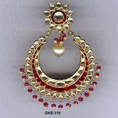 Kundan Meena Earring
