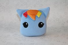 Hey, I found this really awesome Etsy listing at https://www.etsy.com/listing/152734786/rainbow-dash-my-little-pony-blob-plush