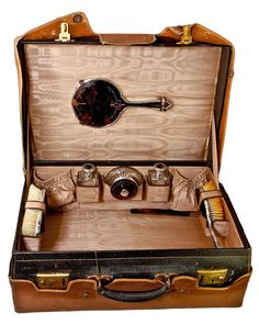 Extensive Tortoise Shell & Sterling Silver Vanity in Travel Case England 1900-1930