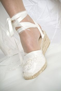 Espadrille Wedding Inspirational Gypsy Queen Espadrille Wedge Ivory Shoes rnrnSource by iafpapin Boho Wedding Shoes, Wedding Accessories For Bride, Wedge Wedding Shoes, Bridal Shoes, Wedge Shoes, Wedding Dresses, Pretty Shoes, Beautiful Shoes, Lace Wedges