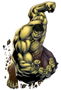 Incredible Hulk by Robert Atkins and colours by logicfun.deviantart.com on @deviantART