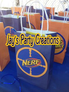 Nerf War Party Favor Goody Bags by JaysFunShop on Etsy, $28.00