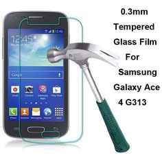 For Samsung Galaxy Ace 4 G313H G313 0.3mm Anti-scratch Tempered Glass 9H Hard Film 1pcs/lot with Clean Tools