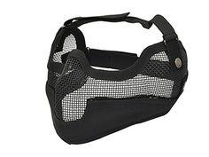 COBRA AIRSOFT BLACK V2 FULL MESH MASK EAR PROTECTION