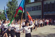 Last Bell meeting at the School #9 in Ribnita, Transnistria