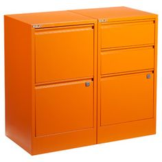 The Container Store > Orange Bisley® File Cabinets
