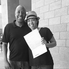 Picking up our marriage license