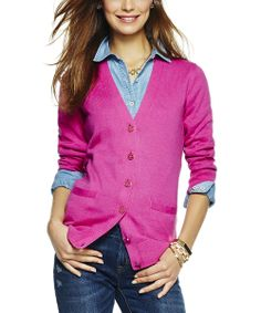 Pink Tourmaline V-Neck Cardigan   Daily deals for moms, babies and kids