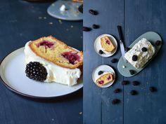 Blackberry Cake with Lemon Mascarpone