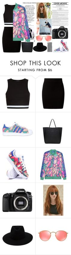 """""""adidas inspiration"""" by jeesxx ❤ liked on Polyvore featuring adidas, New Look, adidas Originals, Eos, Prism, rag & bone, Ray-Ban and MICHAEL Michael Kors"""