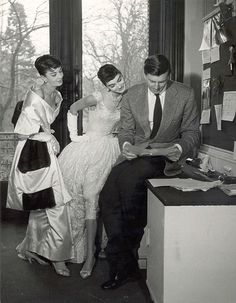 """""""The dress must follow the body of a woman, not the body following the shape of the dress."""" Hubert de Givenchy"""