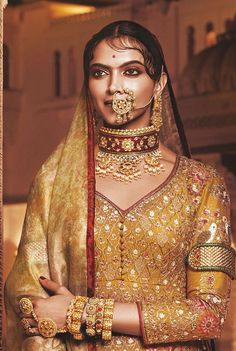 Hollywood and Bollywood actress and model Deepika Padukone from her upcoming Bollywood movie Padmavati Nath Nose Ring, Nose Rings, Deepika Padukone Style, Traditional Indian Wedding, Ranveer Singh, Tumblr Fashion, Indian Couture, Desi Wedding, Indian Designer Wear