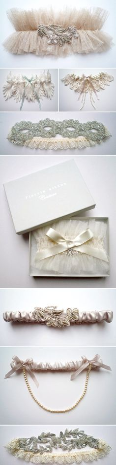 I've never been a big fan of garters, but these... THESE could make me change my mind! They are stunning!
