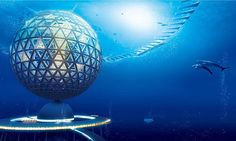Tokyo-based firmShimizu Corporation has revealed concepts for futuristic cities (shown). Called Ocean Spirals the massive structures would float on oceans and submerge during bad weather.