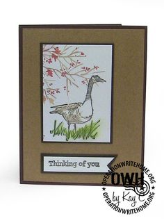 "Image SU ""Wetlands"", sentiment Hero Arts, Cuttlebug trees embossing folder"