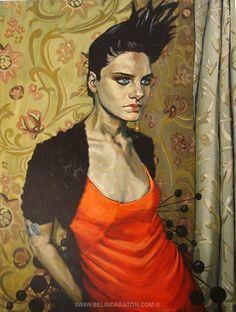 Girl with swallow tattoo- Belinda Eaton 2005