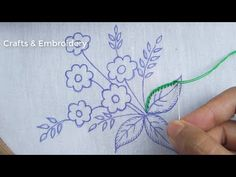 This video about: Hand Embroidery, Beautiful Flower Embroidery Design, Easy Flower Embroidery Welcome to my channel crafts & Embroidery! Hand Embroidery Patterns Flowers, Embroidery Stitches Tutorial, Flower Embroidery Designs, Creative Embroidery, Hand Embroidery Stitches, Diy Embroidery, Art Patterns, Japanese Embroidery, Embroidery Techniques