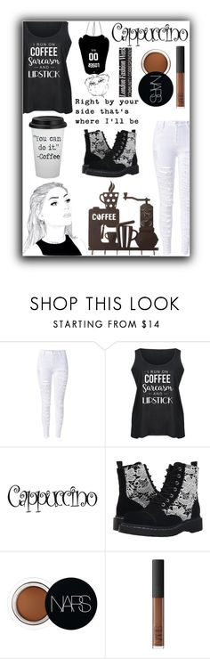 """""""Coffee - My life"""" by queenmadhatteres ❤ liked on Polyvore featuring T.U.K., NARS Cosmetics and plus size clothing"""