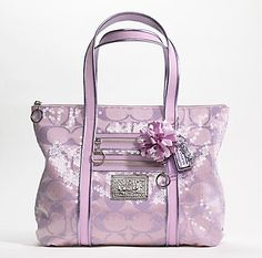 Coach Poppy Signature Sequins Lavender Glam Tote ($270)*