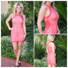 What a great lace dress! It has side sheer panels for a peek a boo effect! ~ #090515 -2 $58 ~ Call our boutique 702-906-1723 to order, Facebook Click our Shop Now button at the top of our page or Instagram use our easy jot form located in our Bio