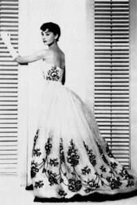 Love this movie!!!Fabulous Givenchy dress 1954 (Audrey wearing it in Sabrina)