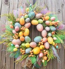 Easter Wreath Spring Wreath Easter Door Wreath Easter | Etsy