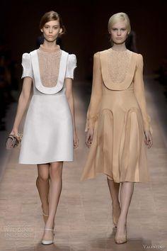 valentino spring summer 2013 puff sleeve bib dress