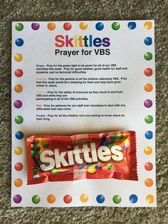 Skittles VBS Prayer