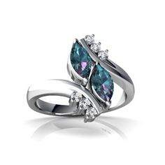 14kt White Gold Lab Alexandrite and Diamond Marquise Marquise Bypass Ring - Size 8.5 Jewels For Me http://www.amazon.com/dp/B000KAK654/ref=cm_sw_r_pi_dp_SDTGub1A6A88A