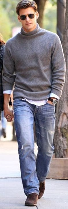 50 Men's Street Style Outfits For Cool Guys | http://stylishwife.com/2014/03/mens-street-style-outfits-for-cool-guys.html Neat pic.