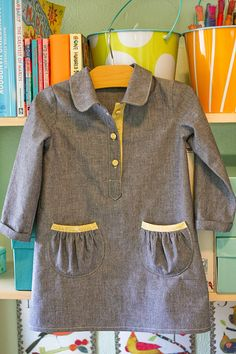 Jump Rope dress for fall by supergail, via Flickr.  Pattern is the jump rope dress from Oliver and S.