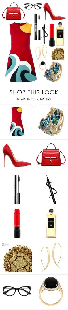 """""""Ocean Babe"""" by annabellalovesfashion ❤ liked on Polyvore featuring RED Valentino, Betsey Johnson, Jimmy Choo, Serge Lutens, Urban Decay and Lana"""
