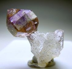 Japan Law Twin Quartz   with Amethyst Scepter