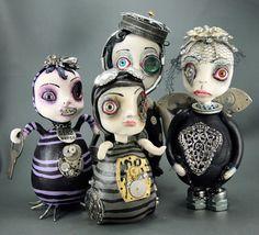 Steampunk art dolls!! how gorgeous