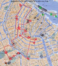 Amsterdam-tour-walking-map